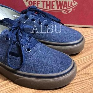 VANS Authentic Washed Canvas Blue Kid's AUTHENTIC